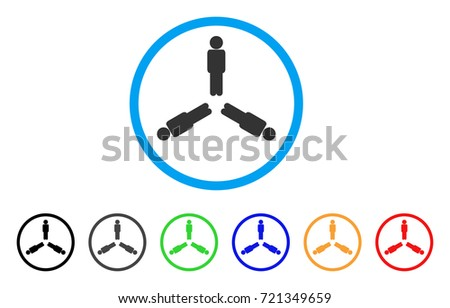 triple person rounded icon