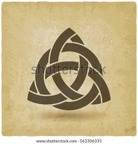 triquetra in circle old