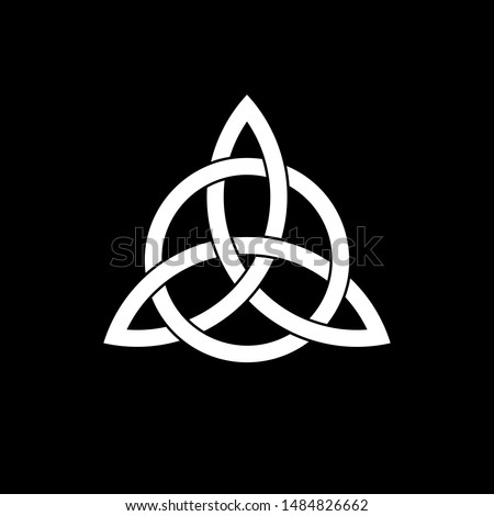 Triquetra Interlaced With Circle Ancient Vector Symbol