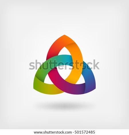 triquetra symbol in rainbow