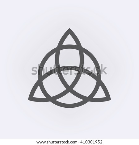 Triquetra symbol . Vector illustration