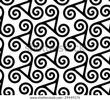 triskeles - seamless pattern