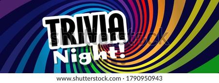 Trivia night on radial stripes background