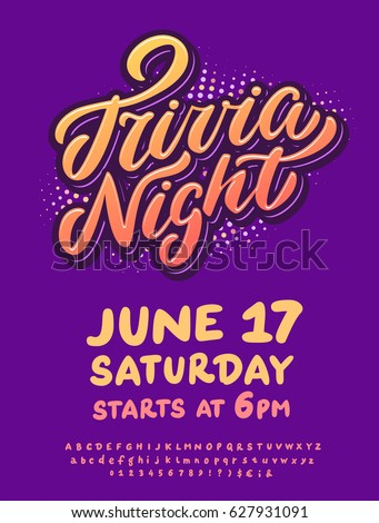 Trivia night. Poster template.
