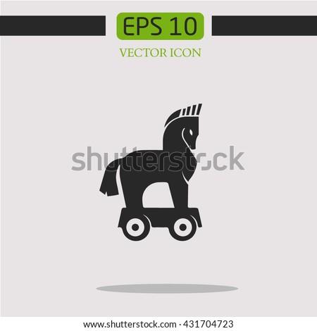 trojan horsevector icon