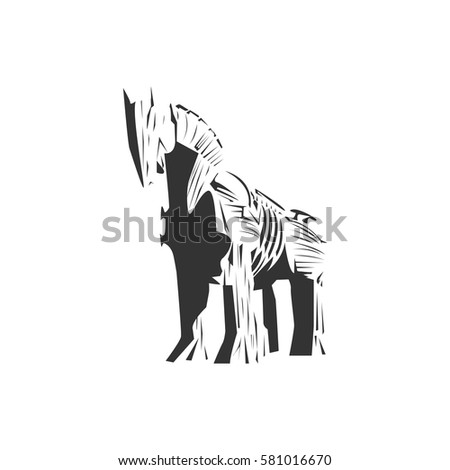 trojan horse vector   wood horse