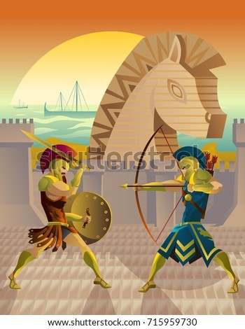 trojan war and troy horse