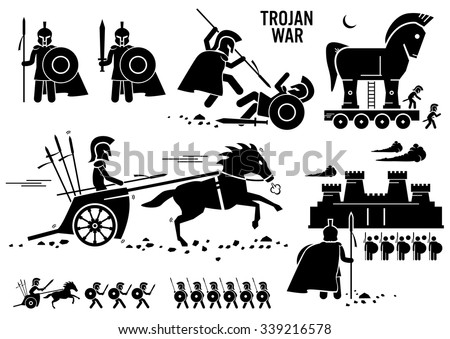 trojan war horse greek rome