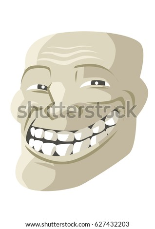 troll face smile
