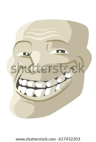 troll face smile