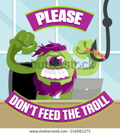 troll green cyclops hater feed