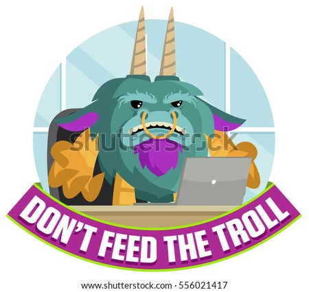 troll using a computer