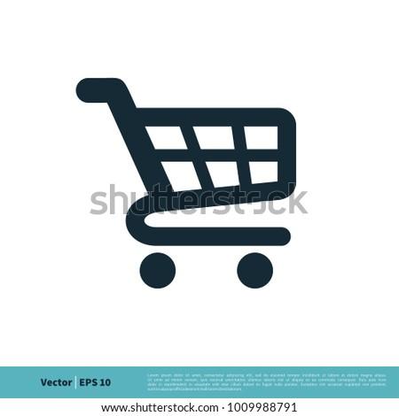 Trolley Cart Icon Vector Logo Template