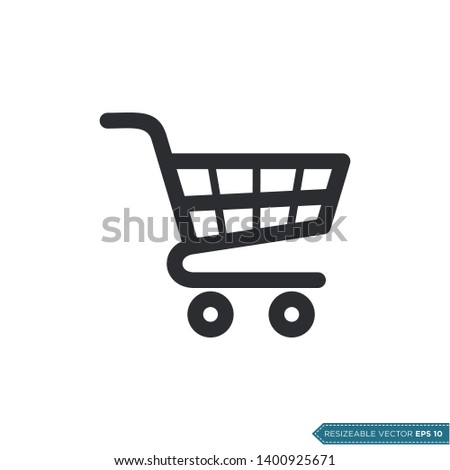 Trolley Cart Icon Vector Template Flat Design