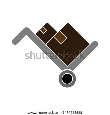 trolley icon. flat illustration of trolley vector icon. trolley sign symbol
