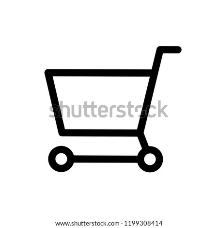 Trolley Icon Vector on Line Art Style.