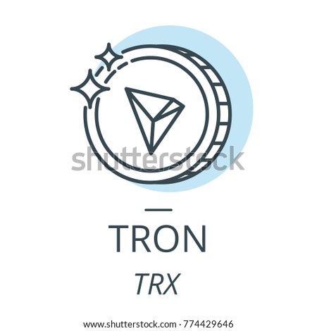 tron cryptocurrency coin line