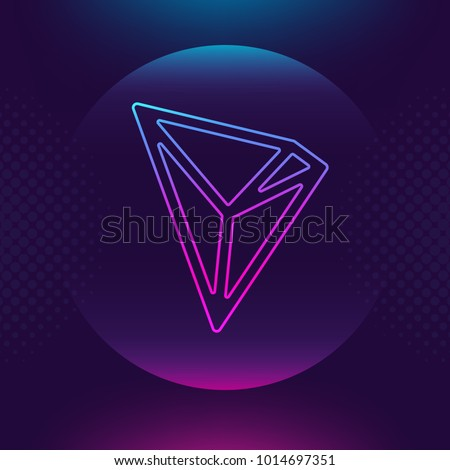 tron trx vector outline icon