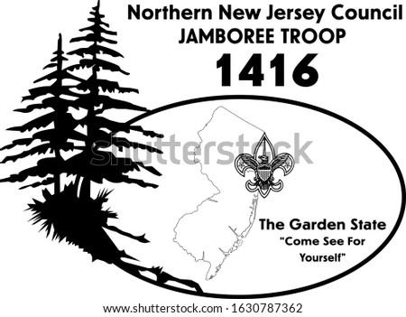Troop 1416 New Jersey Jamboree Troop Vector Logo