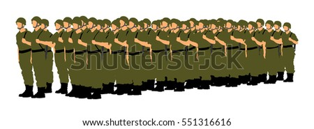 troop of soldiers formation