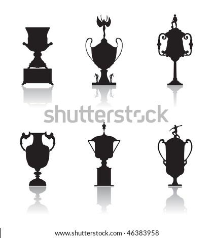 Trophies, set of silhouettes