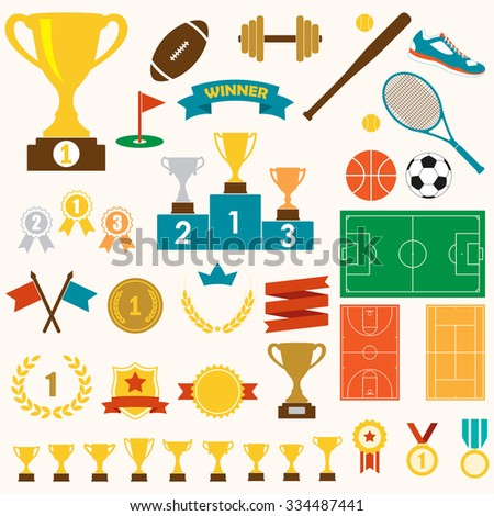 trophy  awards and sports icon