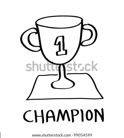 trophy champion cartoon