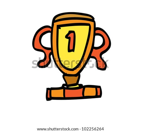 trophy color - stock vector