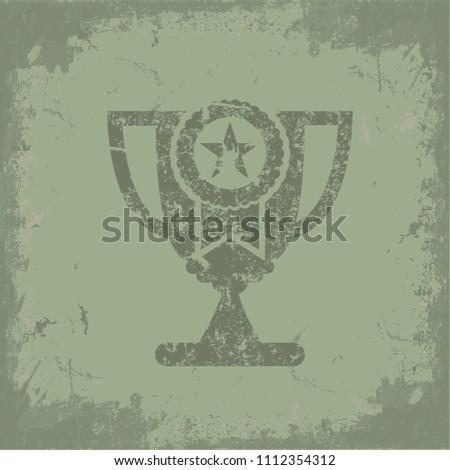 Trophy concept vector design