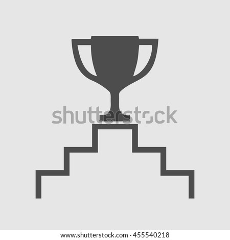 Trophy Cup Vector Icon Eps 10 Simple Isolated Winner Symbol