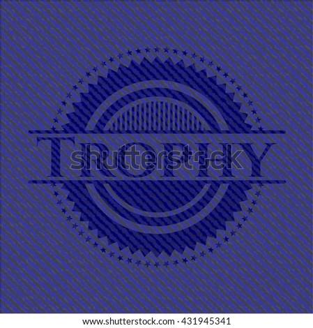 Trophy emblem with jean texture