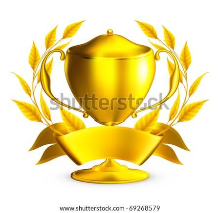 Trophy gold, eps10