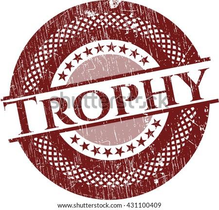 Trophy grunge style stamp