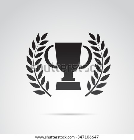 trophy icon isolated on white