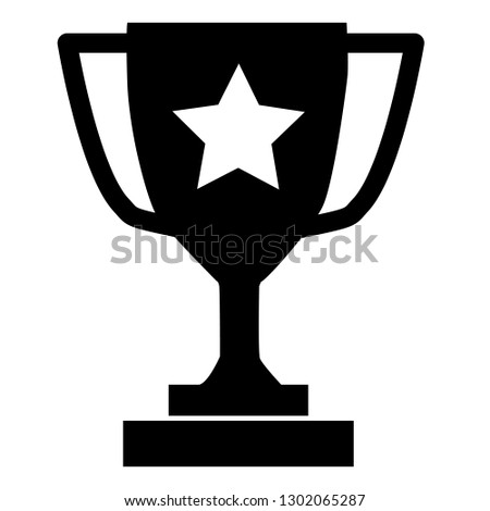 Trophy icon on gray background. flat style. Trophy icon  for your web site design, logo, app, UI. Trophy cup symbol. champions trophy sign.  champions cup sing.