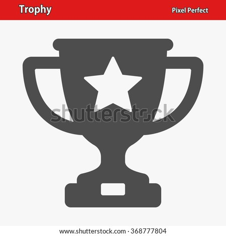 Trophy Icon. Professional, pixel perfect icons optimized for both large and small resolutions. EPS 8 format.