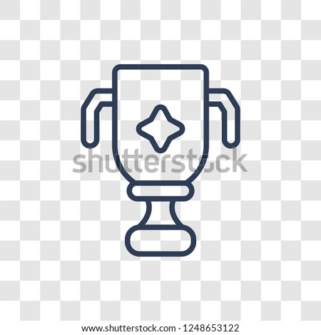 trophy icon trendy linear