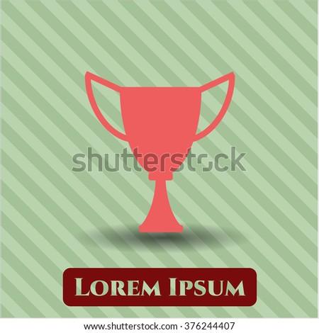 Trophy icon vector illustration