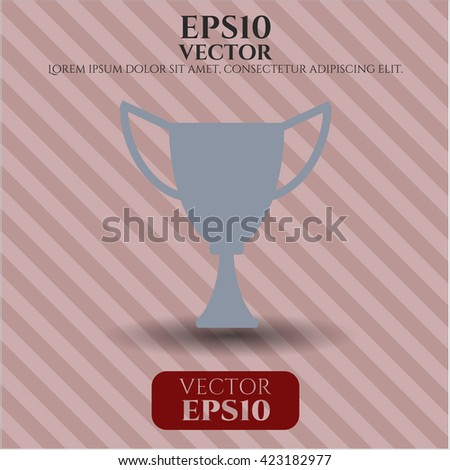 trophy icon vector symbol flat eps jpg app web concept website