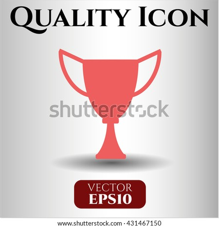 trophy icon vector symbol flat eps jpg app web concept website
