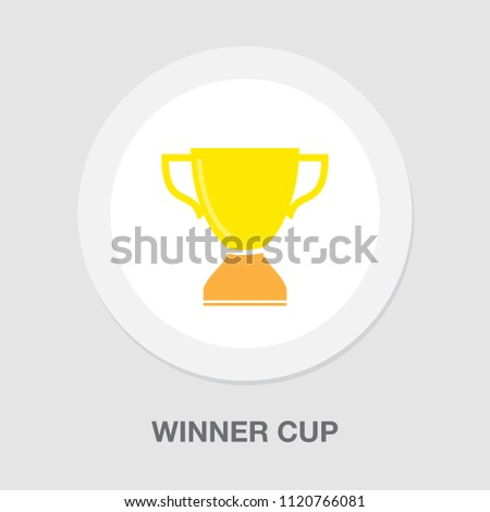 Trophy illustration - gold prize isolated, award winner prize, achievement symbol