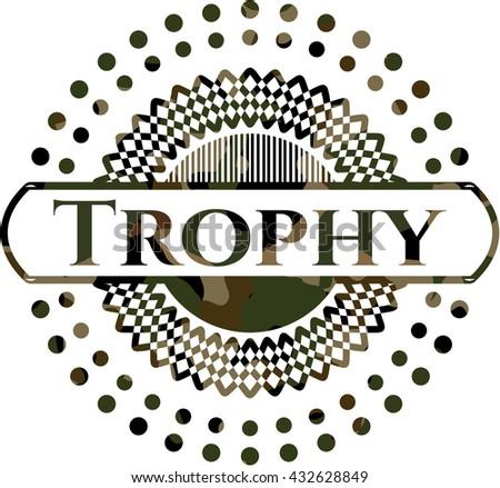 Trophy on camo pattern