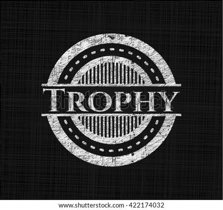 Trophy on chalkboard