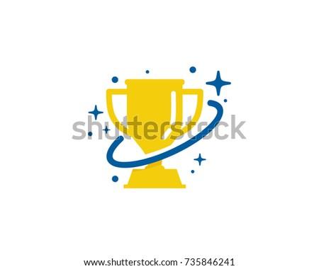 Trophy Planet Icon Logo Design Element