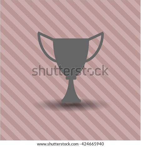 Trophy vector icon