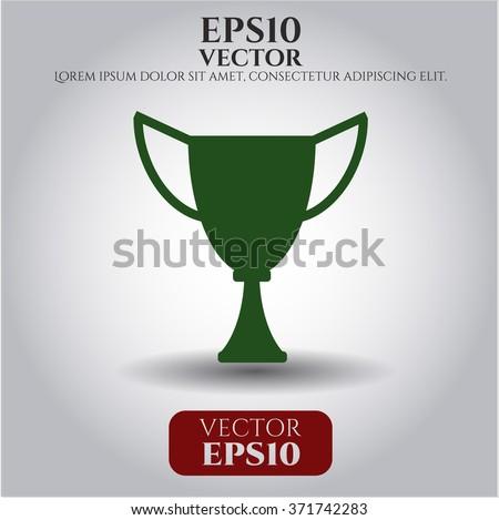 Trophy vector icon or symbol