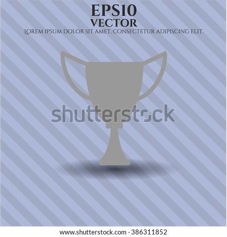Trophy vector symbol