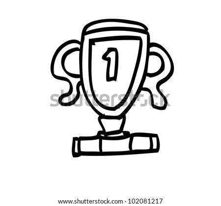 trophy winner illustration