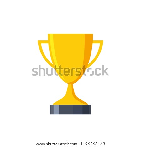 Trophy winners cup. Trophy cup. Awards. Vector illustration.