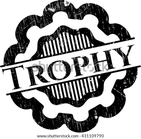 Trophy with rubber seal texture